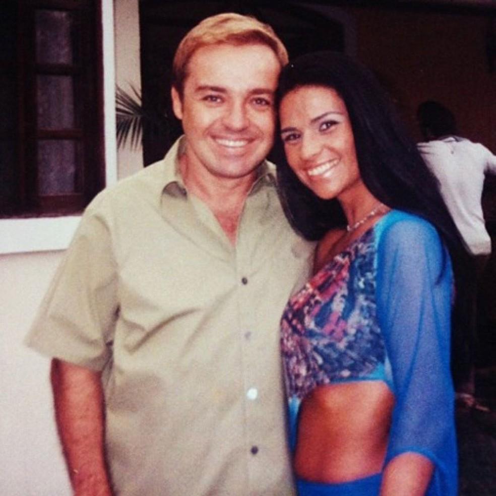 Gugu Liberato e Solange Gomes — Foto: Reprodução/rede social