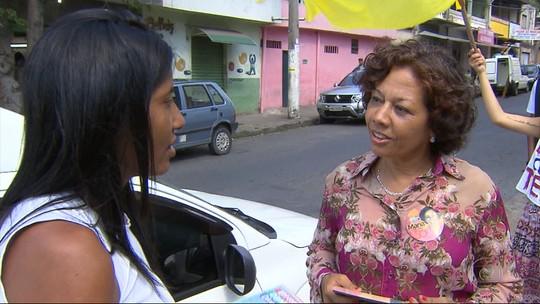 Maria da Consolação (PSOL) faz campanha na Região da Pampulha, em Belo Horizonte