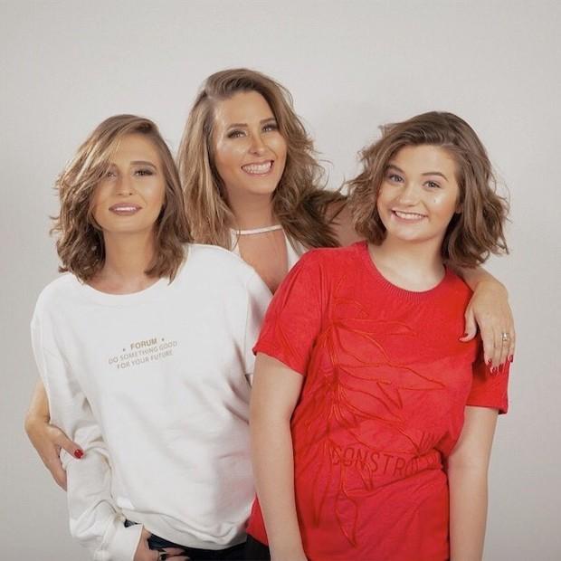 Andréa Sorvetão e as filhas, Giovanna e Maria Eduarda (Foto: Reprodução/Instagram)