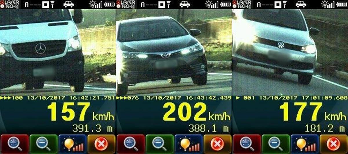 Carro é flagrado trafegando a 202 km/h na BR-101, na Paraíba
