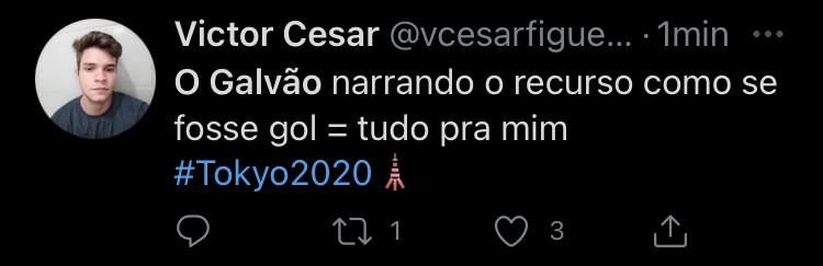 Reação com a narração de Galvão Bueno (Foto: TV Globo)
