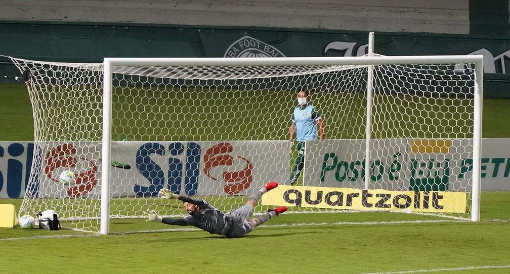 Marcos Felipe já sofreu três gols em chutes de fora da área nos últimos jogos — Foto: Carlos Pereyra / Fotoarena / Estadão Conteúdo