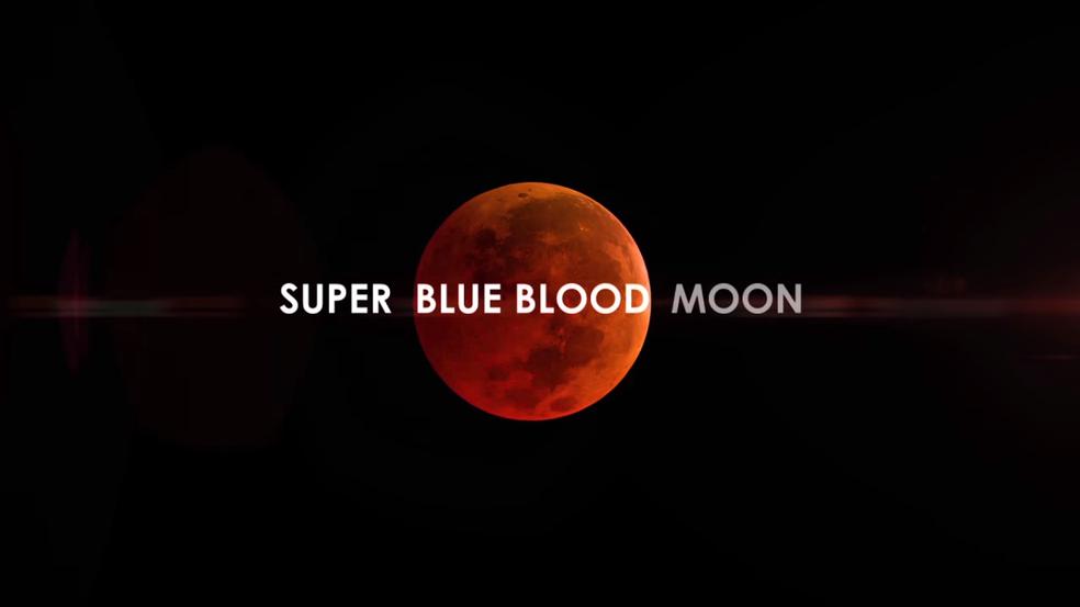 Lua ganha cor avermelhada em fenômeno desta quarta-feira (Foto: Reprodução/YouTube (NASA))
