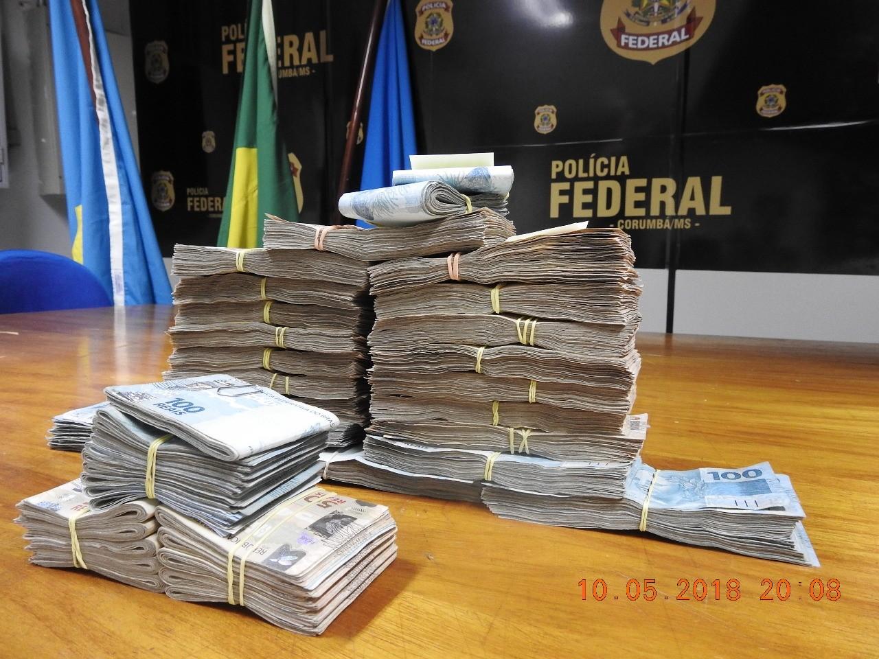 Justiça ouve por videoconferência casal flagrado tentando sair do país com R$ 20 mil e cartões em MS