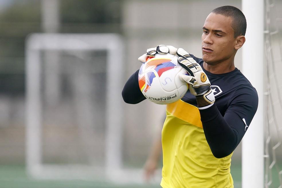 Renan jogou no Botafogo até 2015. Ele foi para o Avaí na temporada seguinte e conquistou o acesso como titular — Foto: Vitor Silva/SSPress