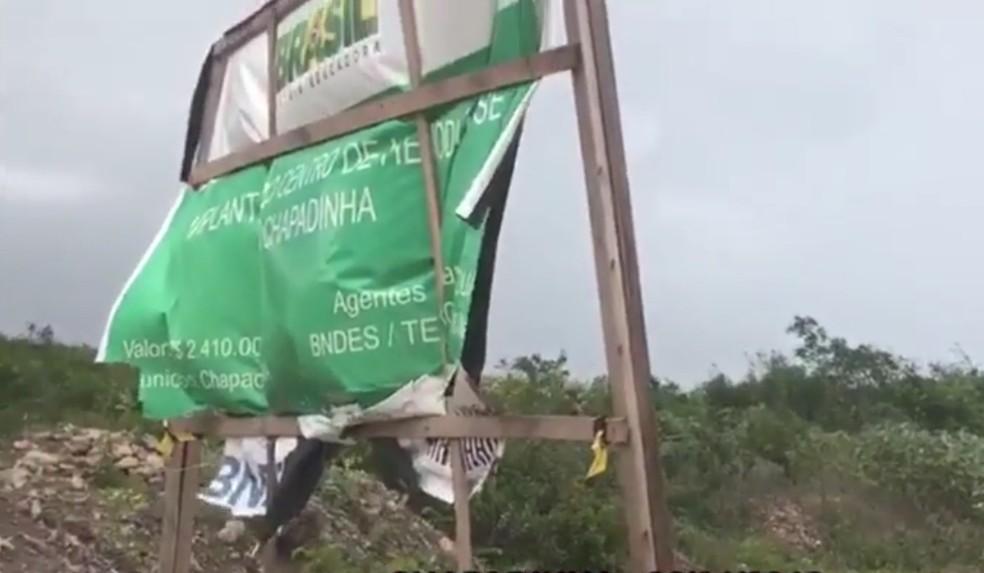 Centro de Hemodiálise de Chapadinha está com obras paradas (Foto: Reprodução / TV Mirante)
