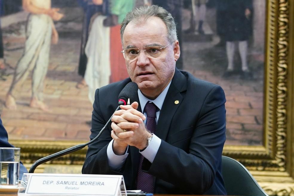 Samuel Moreira (PSDB), relator da comissão especial da Reforma da Previdência na Câmara — Foto: Pablo Valadares/Câmara dos Deputados