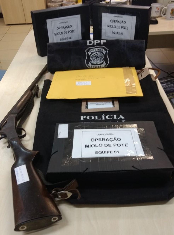 Material foi apreendido nos três municípios (Foto: Carolina Sanches/G1)