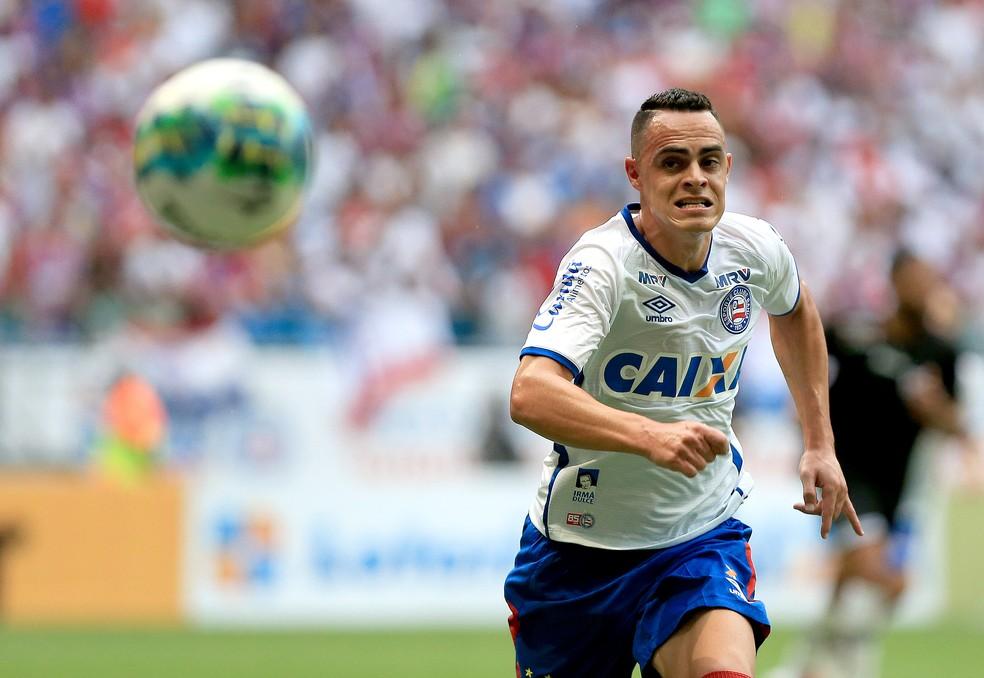 Victor Rangel é o único camisa 9 do CRB contratado para 2019 — Foto: Felipe Oliveira / Divulgação / E.C Bahia