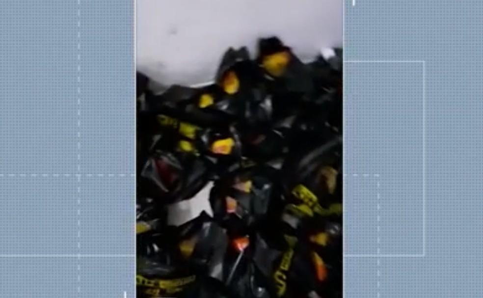 Em véspera de entrega de kits de alimentação, escola é invadida e tem material furtado na Bahia — Foto: Reprodução/TV Bahia