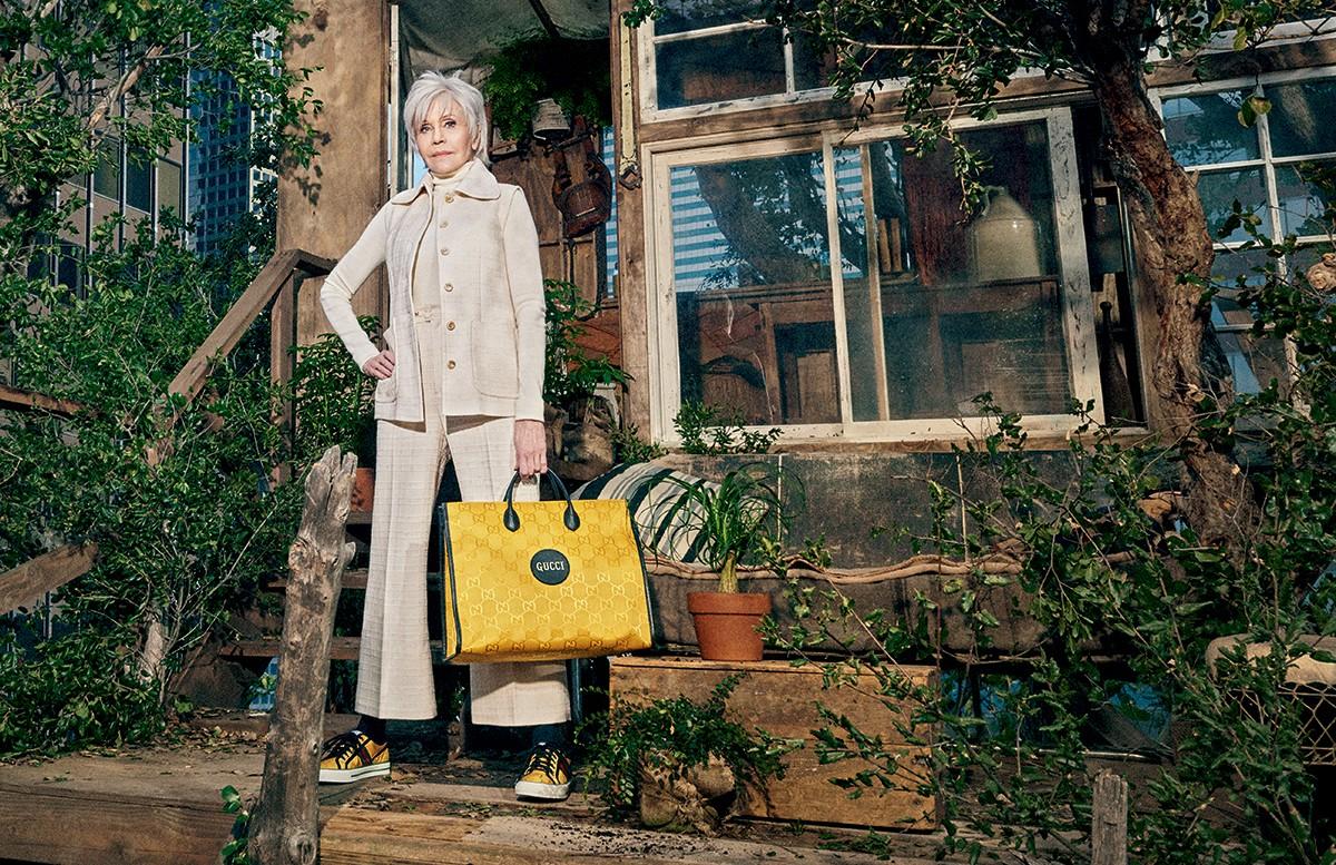 Coluna Maria Rita - Jane Fonda estrela a primeira coleção sustentável da Gucci (Foto: Divulgação)
