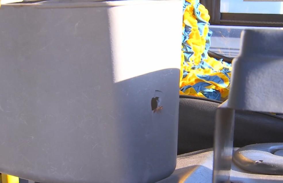 Motorista relata correria antes de mulher ser morta a tiros dentro de ônibus em Marília — Foto: TV TEM/Reprodução