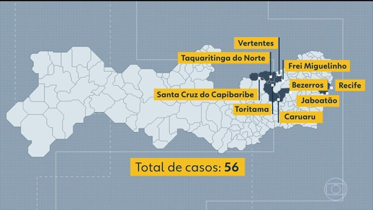 Sarampo: sobe para 56 número de casos confirmados em Pernambuco