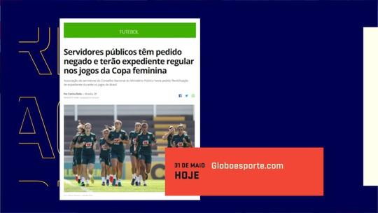 Servidores públicos têm pedido negado e terão expediente regular nos jogos da Copa feminina