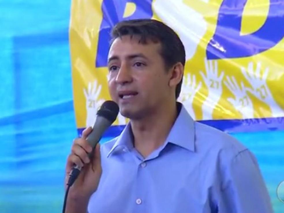 Josué Moreira foi candidato à Prefeitura de Mossoró pelo PSDC — Foto: Reprodução/Inter TV Cabugi
