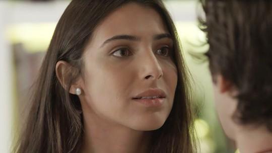 Pérola se assusta com sinceridade de Alex: 'Não quero mais nada com você'
