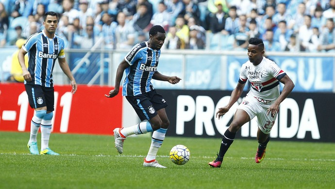 Negueba Grêmio x São Paulo (Foto: Lucas Uebel/Divulgação Grêmio)