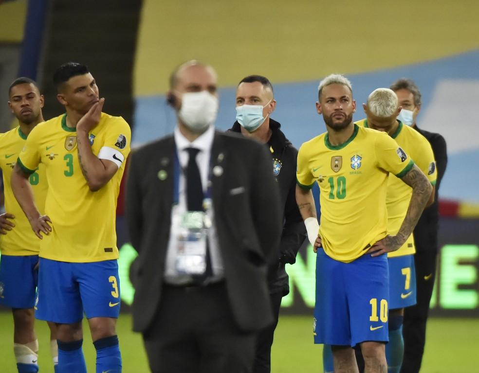 Brasil perde para a Argentina na final — Foto: André Durão