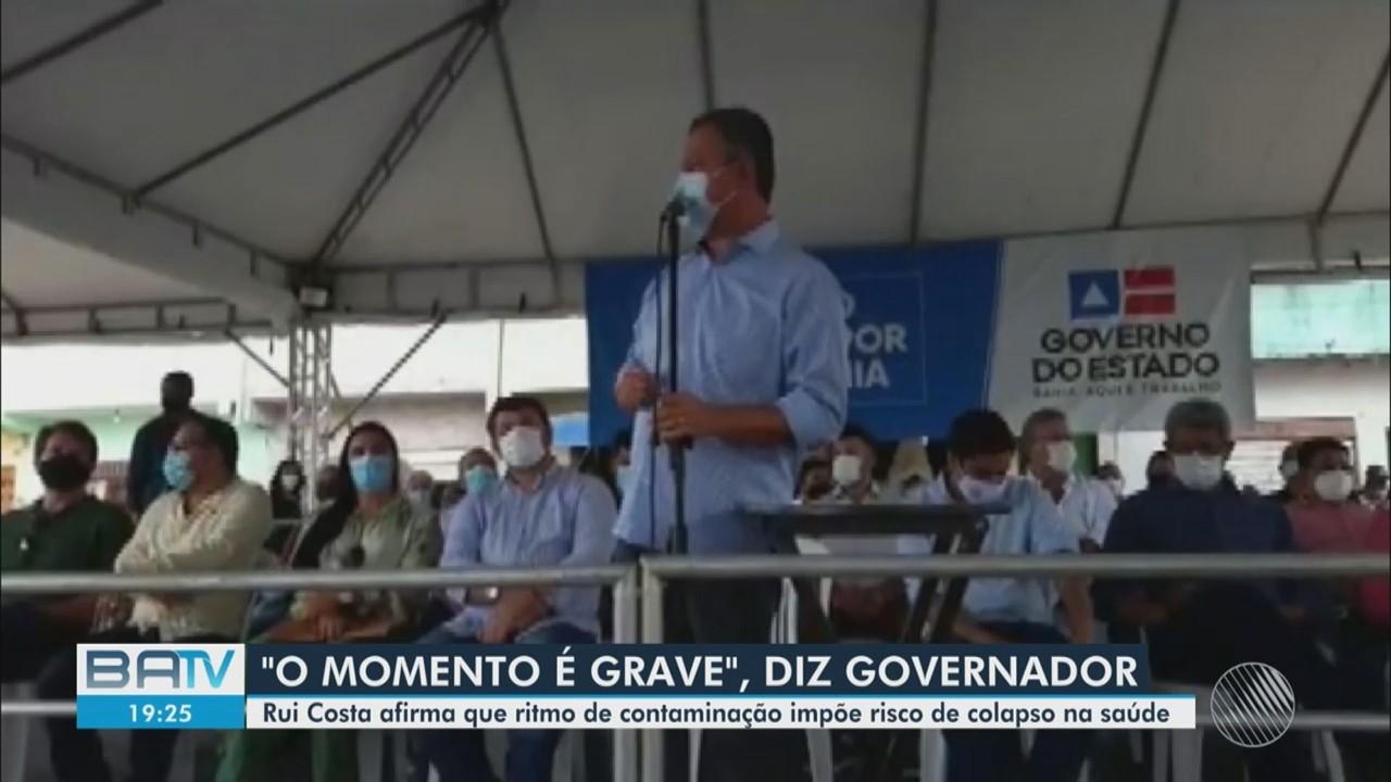 Covid-19: Governador Rui Costa fala sobre o aumento da taxa de ocupação de leitos de UTI