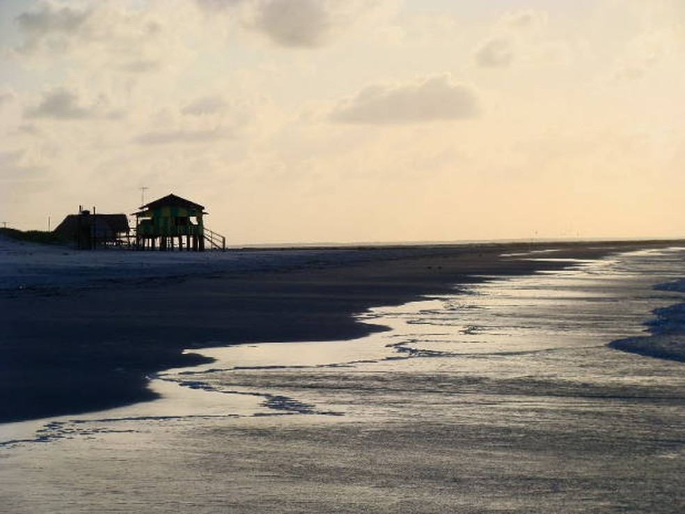 As praias de Algodoal estão fechadas durante o verão paraense e a pandemia de Covid-19 — Foto: Frederico Lobo/Arquivo Pessoal