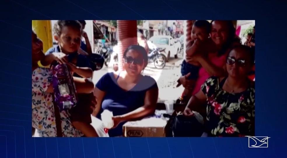 Corpo de Ana Lúcia dos Santos Silva, de 38 anos, foi enterrado na manhã desta quinta-feira (31) — Foto: Reprodução/TV Mirante
