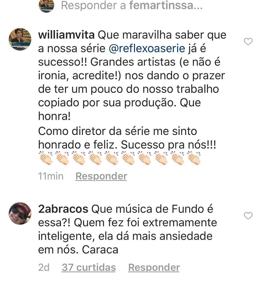William Vita, diretor da série, comentou no perfil das cantoras (Foto: Reprodução / Instagram)