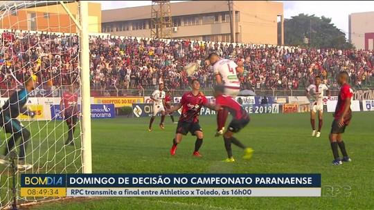 Athletico e Toledo decidem neste domingo o título do Campeonato Paranaense