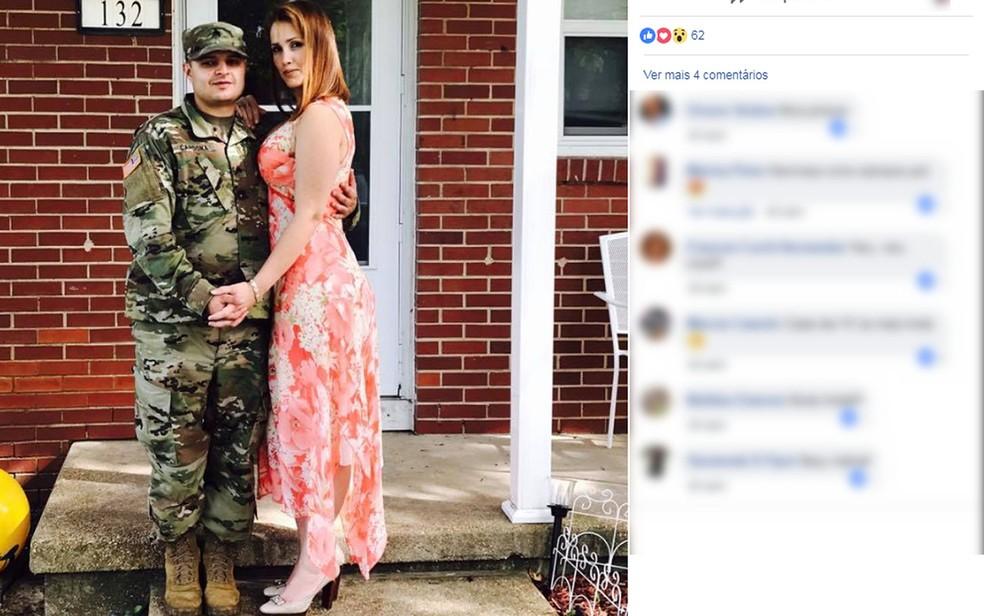Pollyana era casada com um militar do Exército dos EUA e morava com a família em uma base, em Missouri (Foto: Reprodução/Facebook)