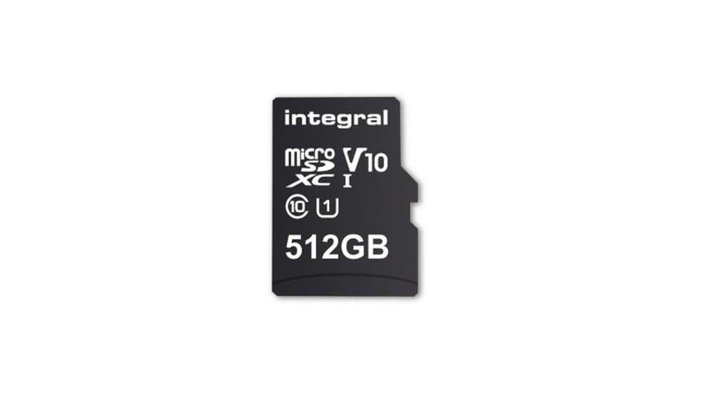 Cartão microSD da Integral Memmory é o maior do mundo, com 512 GB de espaço (Foto: Divulgação/Integral Memmory)
