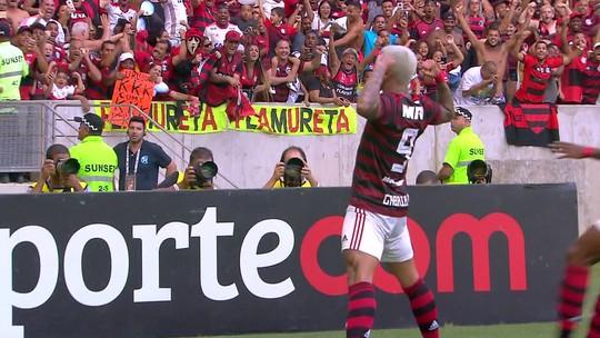 Assista aos cinco gols da vitória do Flamengo sobre o Fluminense