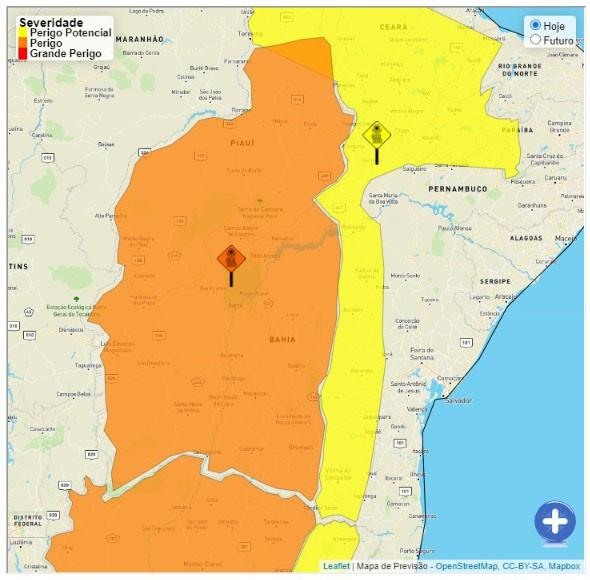 Oeste e sudoeste da BA registram 12% de umidade do ar, índice considerado desértico pela OMS; Inmet divulga alerta