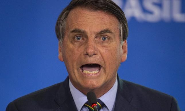 Jair Bolsonaro em solenidade da Operacao Acolhida, no Planalto