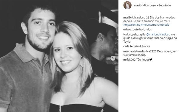 Mariana Bridi e Rafael Cardoso (Foto: Reprodução/Instagram)