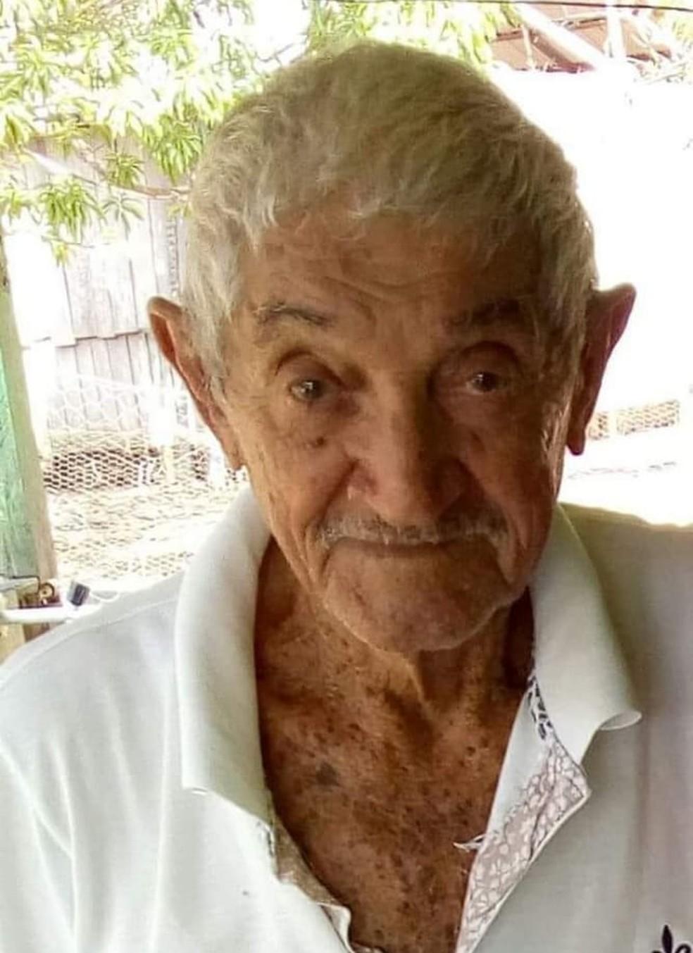 Idoso de 90 anos desapareceu na manhã de segunda-feira (3) em Nova Mamoré.  (Foto: Reprodução/ Arquivo pessoal)