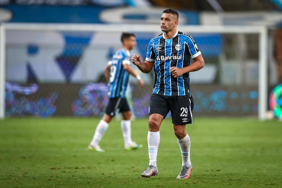 Diego Souza, Grêmio x Santos, Libertadores — Foto: Lucas Uebel/Divulgação Grêmio