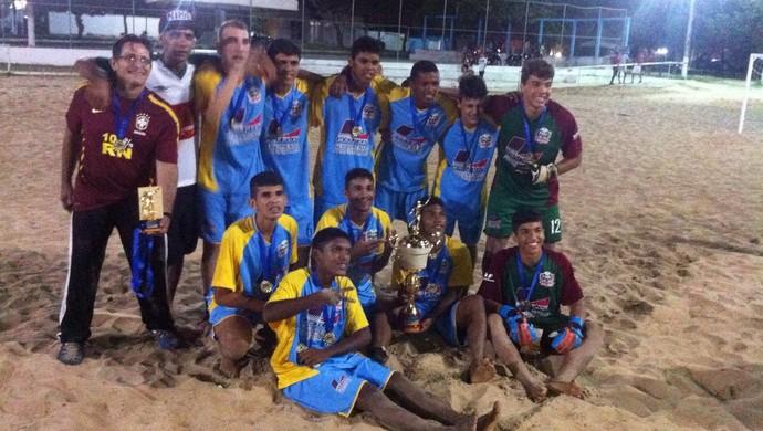 Rio Grande do Norte beach soccer sub-17 (Foto: Divulgação)