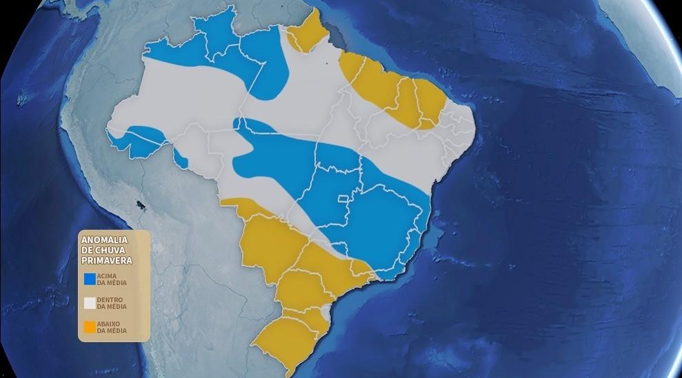 Primavera no Paraná deve ser quente e com chuvas abaixo da média, dizem institutos de meteorologia