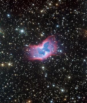 Telescópio ESO faz registro inédito de bolha de gás em forma de borboleta