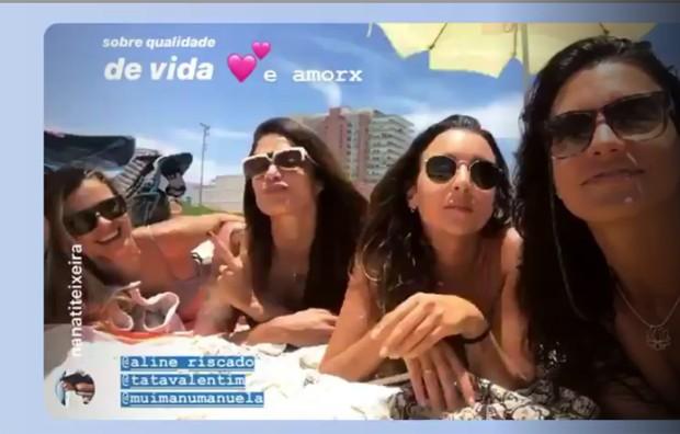 Aline Riscado com amigas (Foto: Reprodução/Instagram)