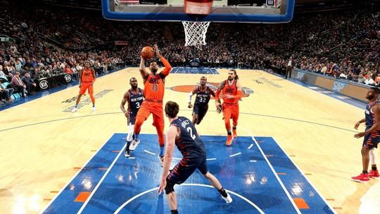 Com 31 pontos de Paul George, Thunder passeia contra os Knicks fora de casa