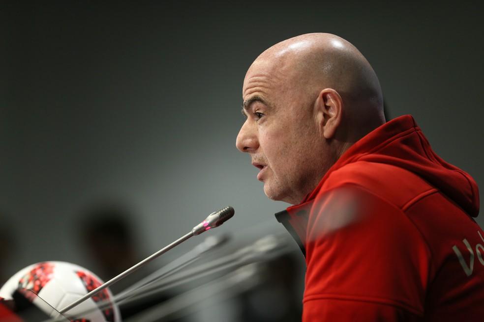 O mandatário celebrou o uso do VAR na Copa (Foto: Getty Images)