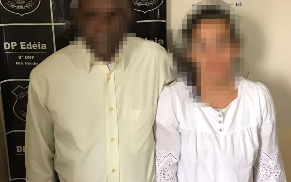 Pastor e mulher são presos suspeitos de estuprar menina em Edeia (Foto: Divulgação/ Polícia Civil)