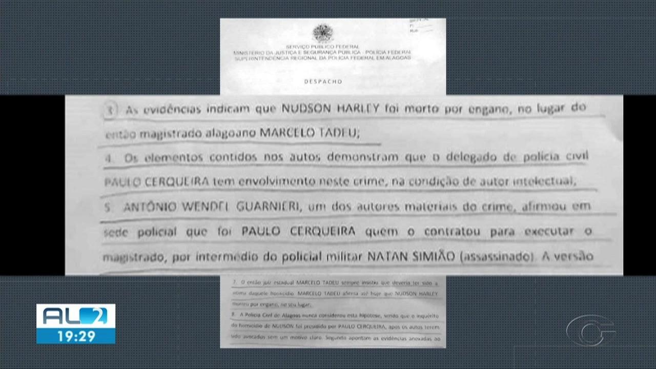PF indicia delegado-geral da Polícia Civil de AL pelo assassinato de advogado em 2009