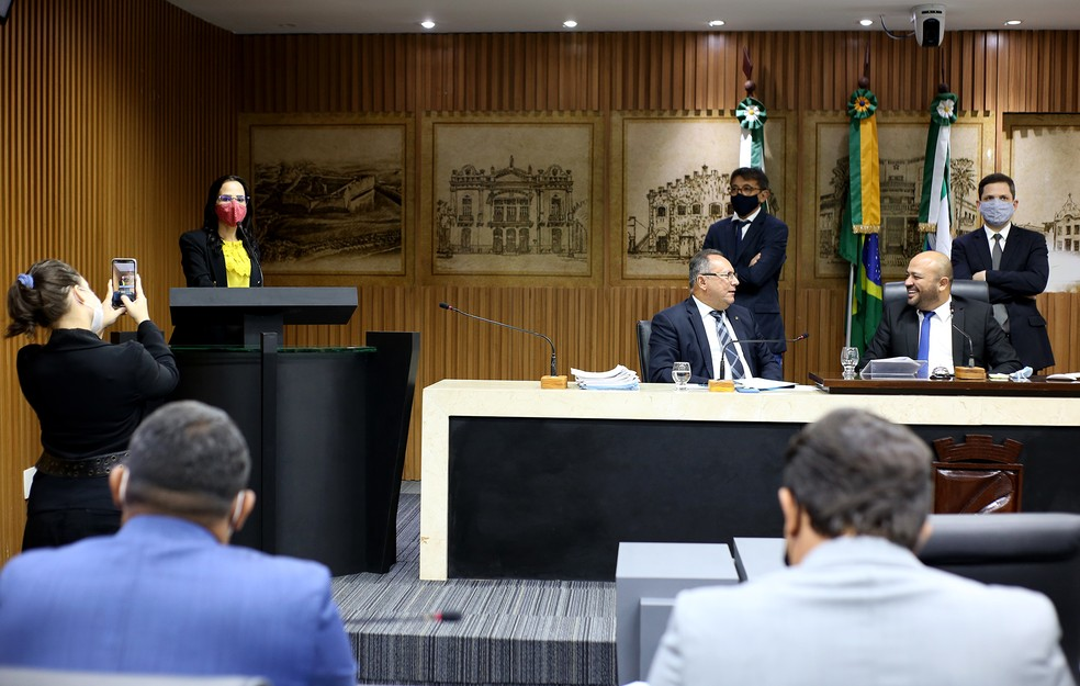 Câmara Municipal de Natal aprova projeto de lei que impede fechamento de igrejas durante pandemia. — Foto: Elpídio Júnior/CMN/Divulgação