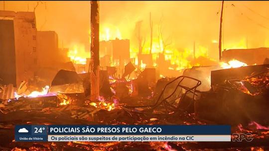 Três PMs são presos em operação do Gaeco que investiga incêndio que destruiu casas em ocupação de Curitiba