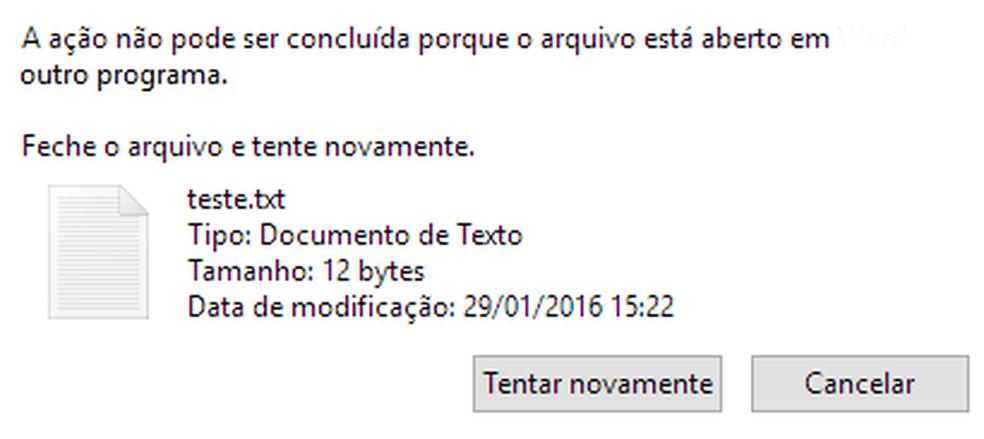 """Veja como desbloquear arquivos """"em uso"""" no Windows — Foto: Edivaldo Brito/TechTudo"""