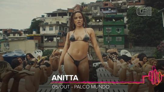 Anitta é atração do Rock in Rio mais ouvida no Brasil, com até 100 vezes mais views que headliners