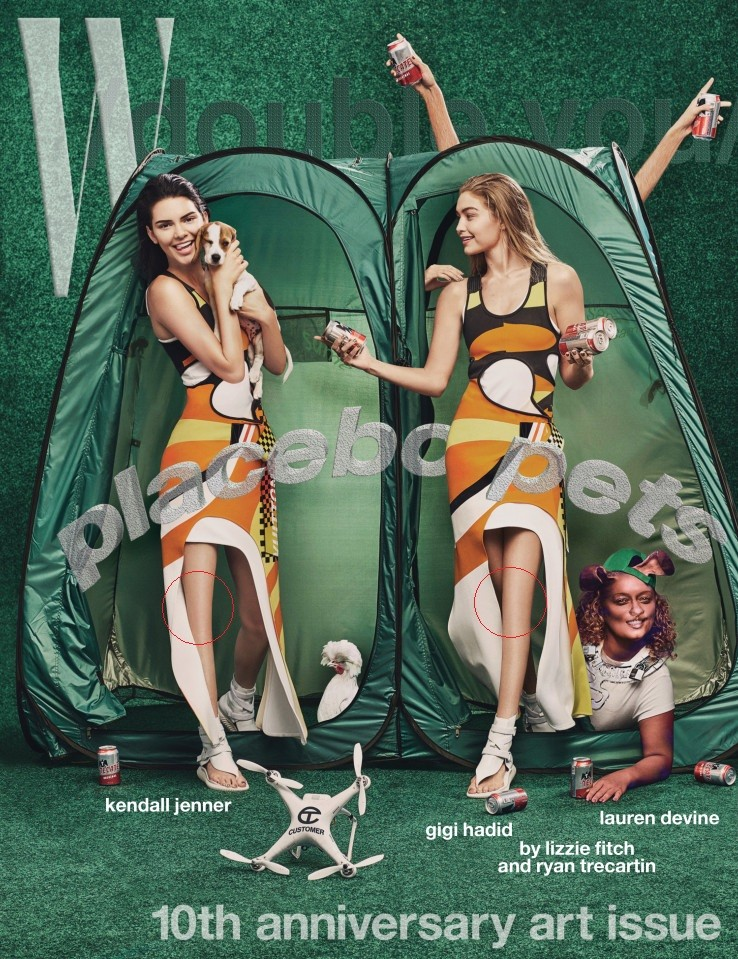 Onde foram parar os joelhos da modelos?