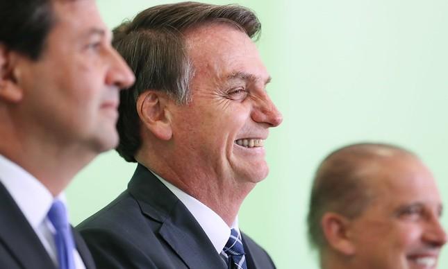 O presidente Jair Bolsonaro no lançamento do programa Previne Brasil