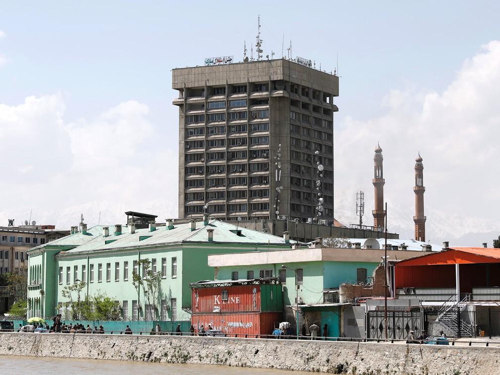 Prédio do Ministério da Comunicação em Cabul, Afeganistão, neste sábado (20). — Foto: Mohammad Ismail/Reuters